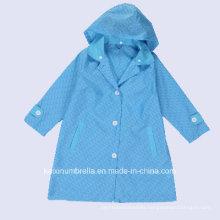 Adult Used New Design PU Coated Polyester Raincoat