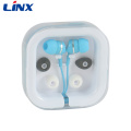Christmas gift fancy earphone in the plastic case