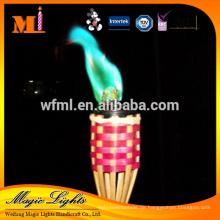 Umweltfreundliche Schutz-Farbflammen-Kerze