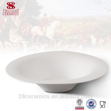 Wholesale hand made ceramic plates, fine royal porcelain noodle bowl