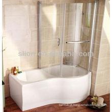 Superfície acrílica sólida, branca, p, duche, duche, banheiras, vidro, painel