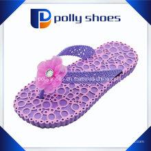 Cute Bow Purple Slipper elegante menina Flip Flop
