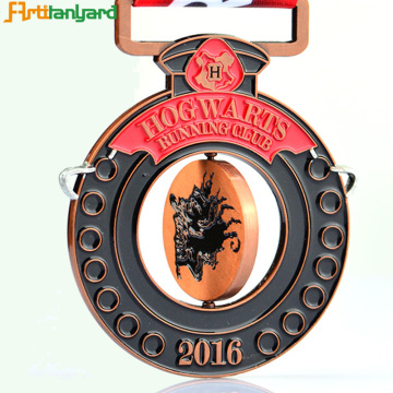 Plating Metal Souvenir Medals With Ribbon