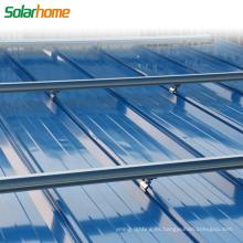 Material de aleación de aluminio o acero galvanizado en caliente en el sistema de montaje solar PV de rejilla