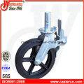 10-дюймовый черный резиновый поворотный каркас колеса литейщика