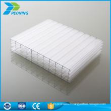 L'usine de performance toute saison directement en polycarbonate accessoires prix en feuille de toiture en serre