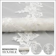 Personalizado hecho personalizado boda corbata bordada pura tela del vestido