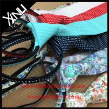 Gravata artesanal de algodão YKK Zipper Gravatas