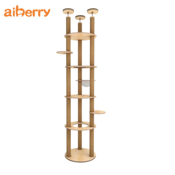Moderne massief houten unieke Cat Tower Tree