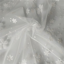 Hot Fashion Floral Glitter Mesh Tulle Fabric Lace