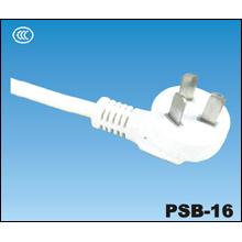 China CCC 3 pines alimentación enchufe PSB-16