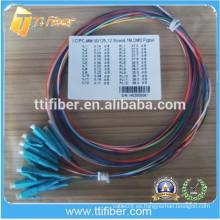 Aqua OM3 LC Pigtail de fibra óptica 0.9mm