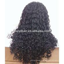Stock Wholesale perruques de dentelle indienne