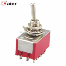 6A 125V 4PDT 12Pin Miniature 2 Position Toggle Switch ON ON