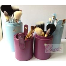 Top vendendo 9pcs escova cosméticos de viagem com caixa de cilindro encantadora