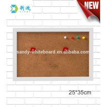 "mini cork boards with photo frame white frame board 25*35cm/93.8*13.8"""