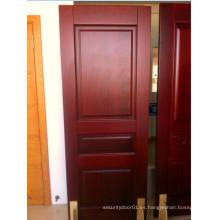 Puerta de madera sólida de pera roja