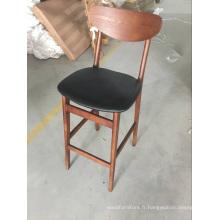 Nouvelle arrivée meubles en cuir chaise haute jambes tabouret de bar à Dubaï