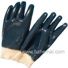 Trois gants en nitrure bleus complètement moulés Chine