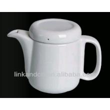 ceramic pot/ white ceramic tea pot with handle