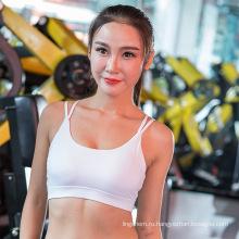 Оптовая хлопка полоса подтолкнуть вверх регулируемый сухой быстро женщин спорт бюстгальтер и йога одежда