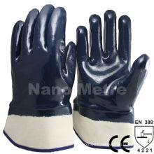 NMSAFETY EN 388 4221 ++A grade Heavy duty dark blue nitrile oil field gloves