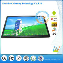 Android OS 55 inch support WAN/LAN/WLAN/3G network digital signage