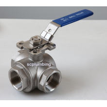 Three-Way Ball Valve with Direct Mounting Pad