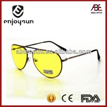 Желтые цветные металлические солнцезащитные очки оптом Alibaba