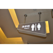 Im Freien wasserdichtes Einkaufszentrum Acryl LED Restroom LED-Zeichen