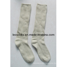 Double Needle Knitted Army Socks