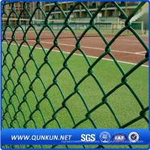 PVC recubierto de seguridad de malla de alambre cerca de la cadena de enlace con el precio de fábrica