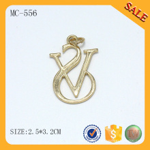 MC556 Chain accessories gold custom handbag metal tags