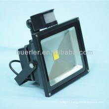 High quality good price ip65 outdoor pir 30w 50w 12-24v 100-240v 110v 12v led flood light with sensor outdoor