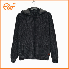 Heavy Thick Hoody Sweater Coat Cardigan With Zipper