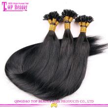 Я отзыв 100% индийский Реми волосы расширения 100 кератин наконечник человеческих волос расширение