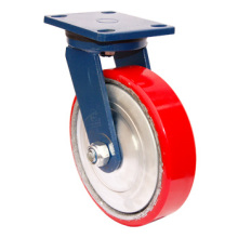 Swivel Pu on Cast Iron Caster - Red (5505558)