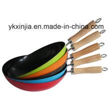 Utensilios de cocina Utensilios de cocina de acero al carbono de color no adhesivo Chinese Woks