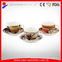Vente en gros de tasses à café et de soucoupes en porcelaine La meilleure tasse de voyage de café