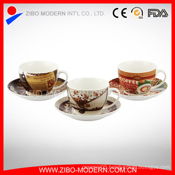 Wholesale Porcelain Espresso Cups and Saucers Best Coffee Travel Mug