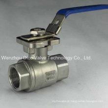 Válvula de esfera de aço inoxidável 2PC com alça de travamento