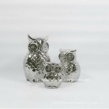 Galvanoplastia de plata pequeña decoración del hogar de cerámica (set)