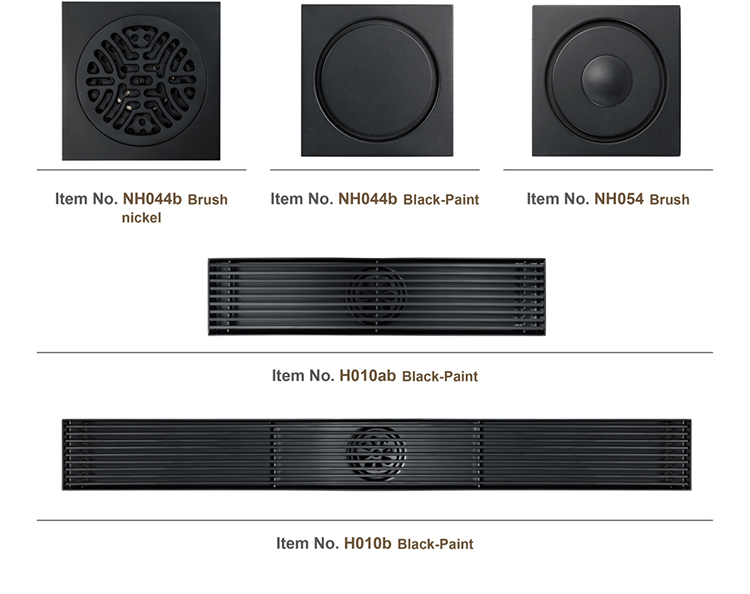 Black Linear Floor Drain