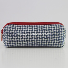 Hot Sale Gingham Stationery School Neoprene Pencil Bags
