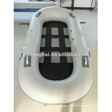 Fishing boat with pvc and plywood floor