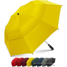 Customized Double Vented Canopy Advertising Windproof 2 Fold Umbrella