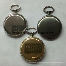 Reloj de bolsillo liso Shinny de 47 mm con cadena