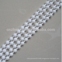 roller blinds plastic ball chain,4.5*6mm white POM ball chain can make endless,(loop) as your want