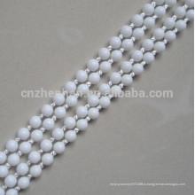 Роликовые жалюзи пластиковые шариковые цепи, 4,5 * 6 мм белая цепь POM мяч может сделать бесконечные, (петля), как вы хотите