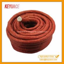 Couleur rouge pour la corde en fibre de verre en caoutchouc de silicone